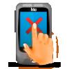 Экран КПКнереагирует нанажатие